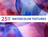 25 Watercolor Textures