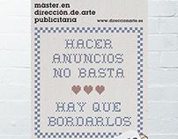 Cartel para Máster en Dirección de Arte publicitaria
