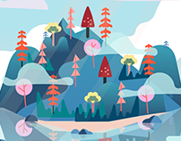 Animated Island Oasis | SVG Animation