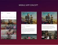 Cinema mobile app - concept