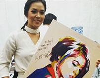 Pop Art for Raisa Adriana - a Famous Singer