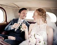 Bryllupsfotograf til bryllupsbilleder med kant