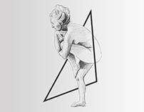 """""""Modèles vivants"""" sketch and brochure"""