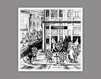 Illustration for beer store