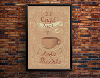 Póster Lettering coffe