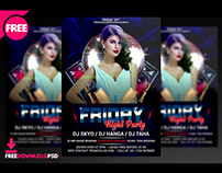 Friday Night Party flyer PSD Template