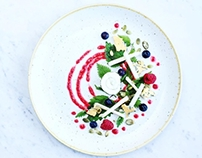 Nettle raspberry salad