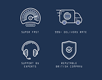 Custom Flat Icon Design