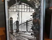 Some of my framed works(sold).