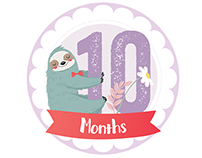 Baby months stickers
