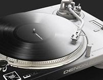 A turntable designed for DJs