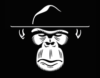 Sgt. Monkey logo design