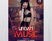 Urban Music - Free PSD Photoshop Flyer Template