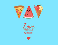 Love Triangle seamless pattern