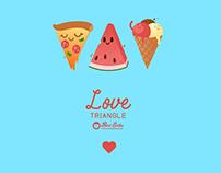 Love Triangle seamless pattern