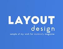 Layout Design - Madenaty Magazine