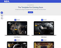 RDX: Coming Soon, Under Construction Landing Page Templ