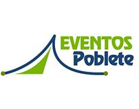 Diseño de logotipo y sitio web de Eventos Poblete