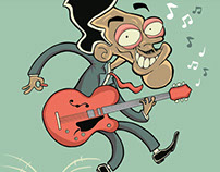 Ilustração de Chuck Berry