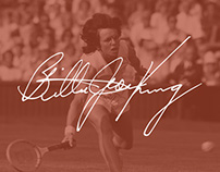Billie Jean King Website Design