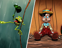 3D modelings: Happiness & Pinocchio