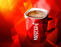 Nescafe - Ad illustration