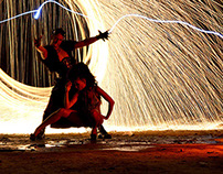 Fire, experiencing with lightpainting