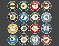 2016 Stanley Cup Playoff Hockey Icons