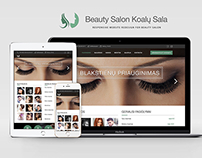 Beauty Salon Website Redesign