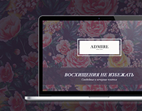 «Admire» Bridal salon Landing page