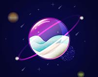 glass bubble planet