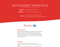Wockhardt Hospitals - UX Strategy & UI Design Direction