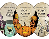 Fall/ Winter Candle Label Designs
