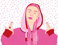 Pink Icons Portrait