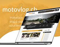 Motovlog.ch - ui/ux design