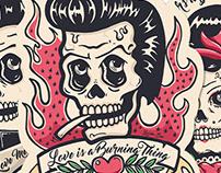 Rockin´ Till Death Stickers