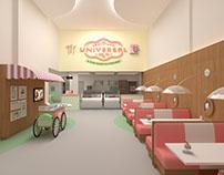 Projeto da nova loja da Sorveteria Universal em BH/MG.