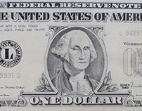 One Dollar Note - pencil drawing (1990)