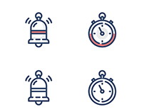 Outline Icons for A Client