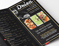 Drisa Food delivery 4-fold flyer - 2019 update
