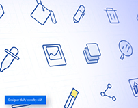 Icon pack for online image editing tools.