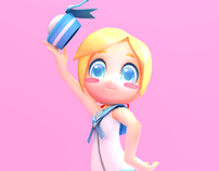 Sailor Girl 3d Model