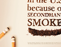 Secondhand Smoke Social Awareness Poster