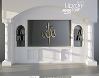 Arabesque Modern Library 3D Model