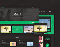 GFXacademy website design UI/UX