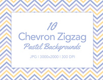 10 Chevron Zigzag Backgrounds in Pastel Colors