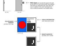 Multimodal Interior Wayfinding, Mobile App + Signage
