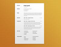 FREE Minimalist Figma Resume Template