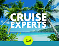 Print design for CruiseExperts tour agency