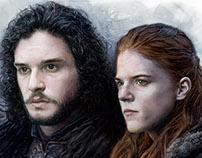 Rose Leslie & Kit Harington (Game of Thrones)